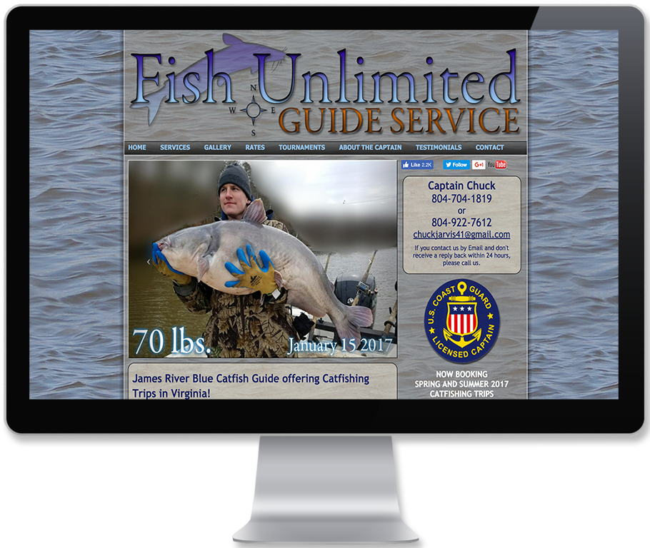 Fish Unlimited Guide Service Website